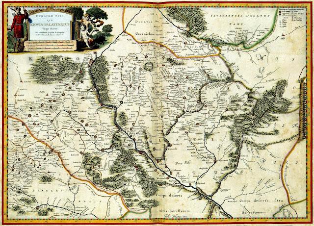 Старинная карта Украины