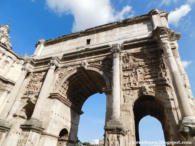 Римский Форум - Триумфальная арка Септимия Севера