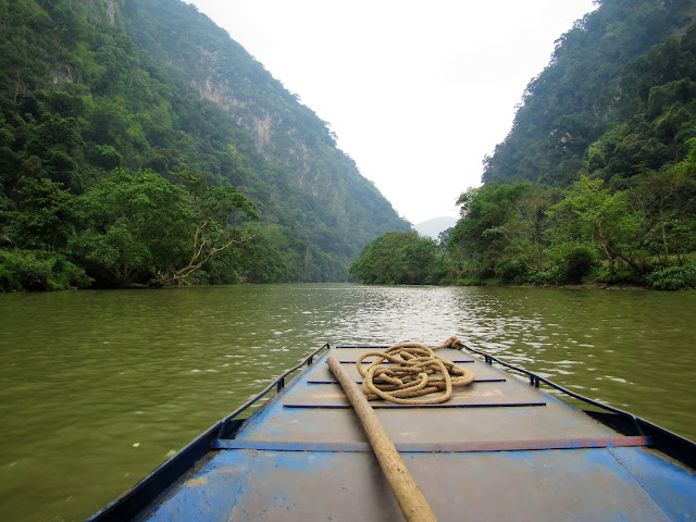 boat nang river ba be national park vietnam