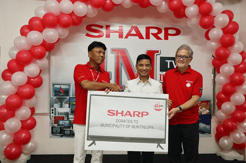 Sharp donated TVs to the Municipality of Muntinlupa