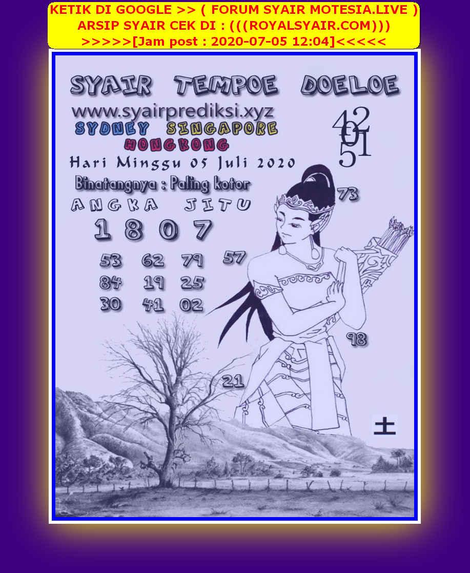 Kode syair Hongkong Minggu 5 Juli 2020 279