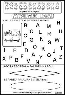 Atividade legal de alfabetização O