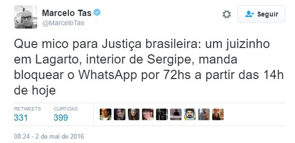 Sergipe vira motivo de chacota nas redes sociais após suspensão do WhatsApp