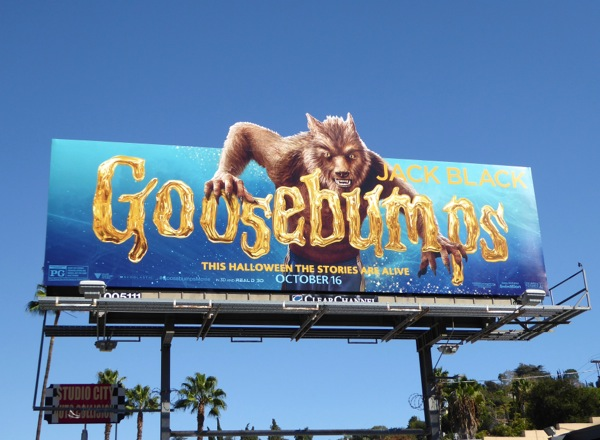 Goosebumps Werewolf special extension billboard