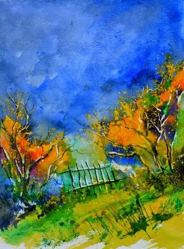 Aquarela - Cores fortes e vibrantes nas pinturas de Pol Ledent