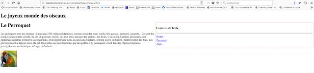 La page perroquet.xhtml
