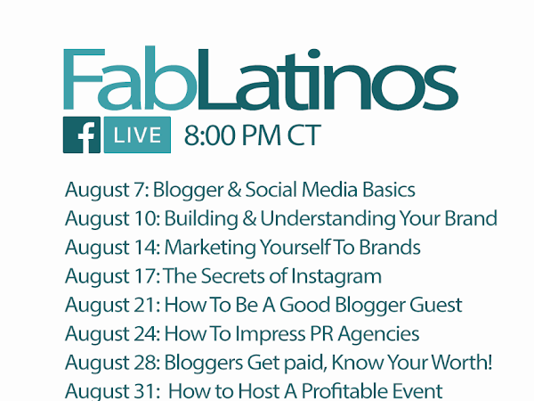 FabLatinos Live | Facebook Live Sessions For Latino Bloggers