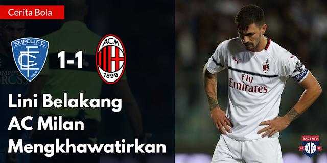 Lini belakang AC Milan mengkhawatirkan