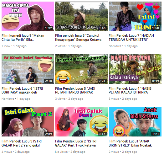 film pendek lucu youtube