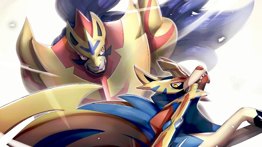 Zacian and Zamazenta, Pokemon Sword and Shield, 4K, #66