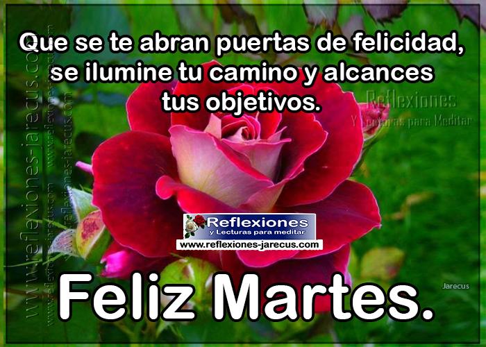 Feliz martes, que se te abran puerta de felicidad, se ilumine ti camino y alcances tus objetivos