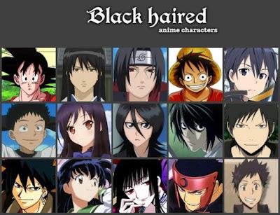 anime karakterleri siyah saçlı