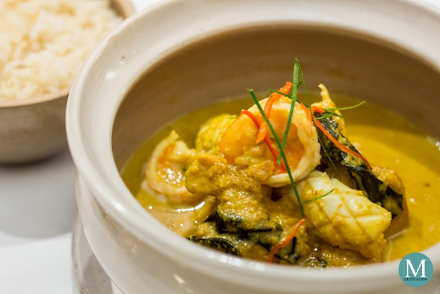 Cambodian Wok-Fried Prawn Curry at The Dining Room, Park Hyatt Siem Reap