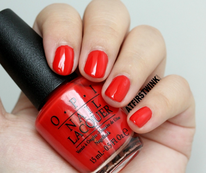 Review: OPI nail lacquer - I STOP for Red