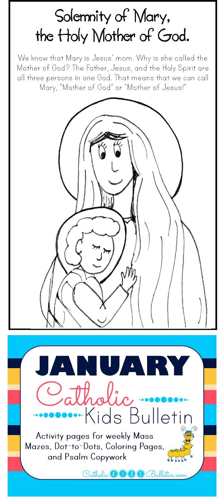 1 Solemnity of Mary the Holy Mother of God Coloring Page