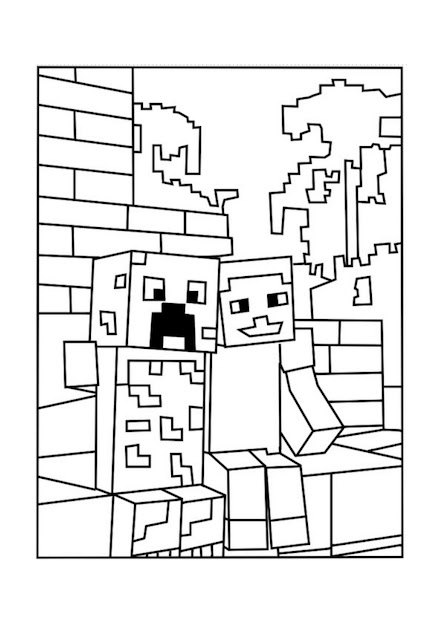 Best Minecraft Creeper Coloring Pages