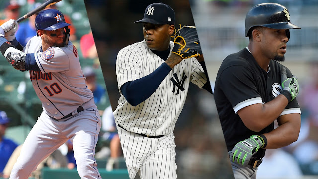 Yulieski con 12, Chapman con 17 y Pito con 13, son de las estrellas cubanas mejor pagadas en el 2018 en las Grandes Ligas