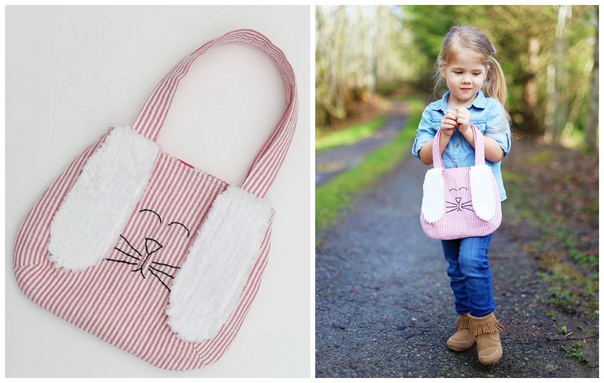 Bolsas de tela para ni os con forma de conejitos de pascua - Bolsas de tela para ninos ...