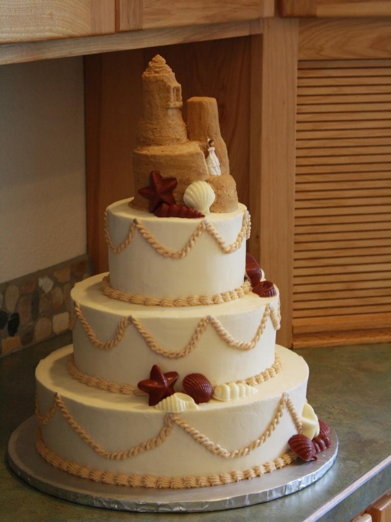 Party Cakes: Beach Themed Wedding Cake