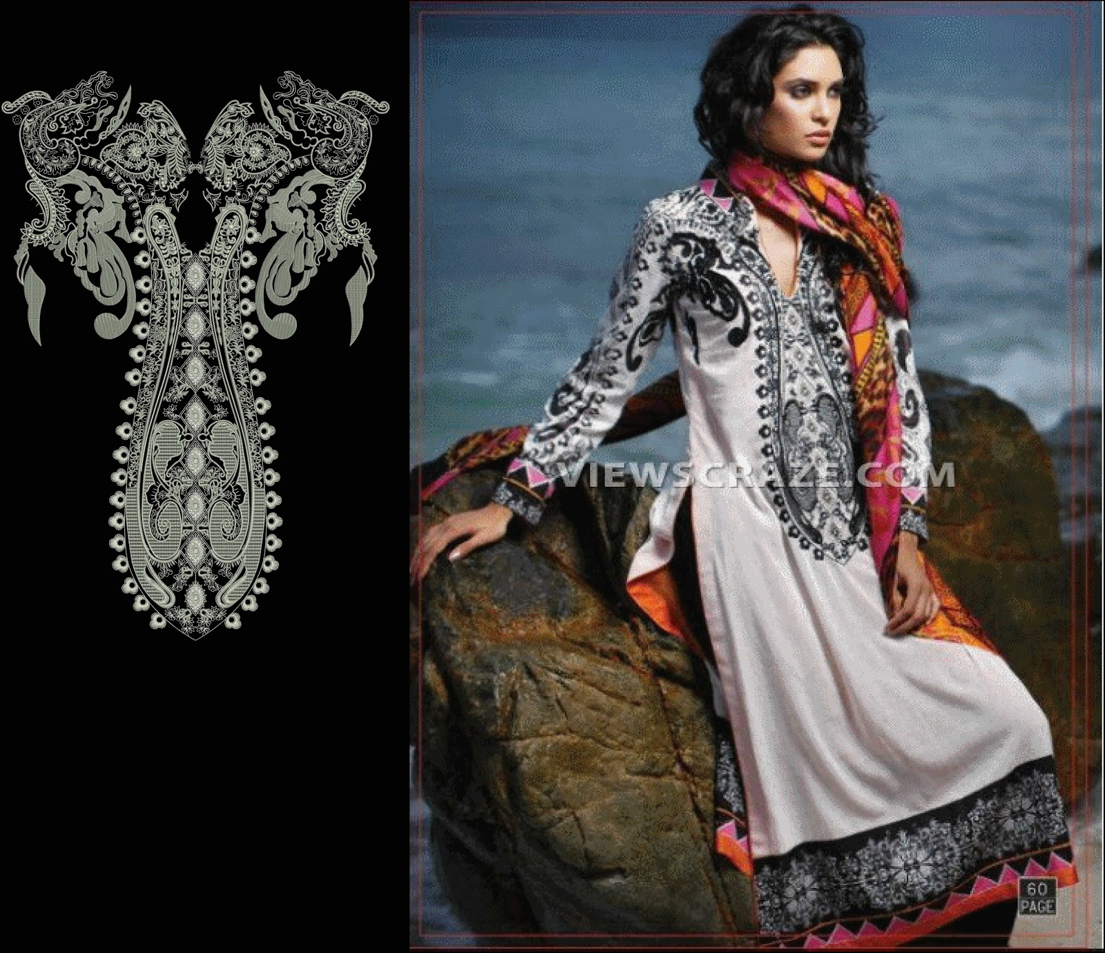 Classical Neck Embroidery Designs For Ladies Suits 2015 Embroidery