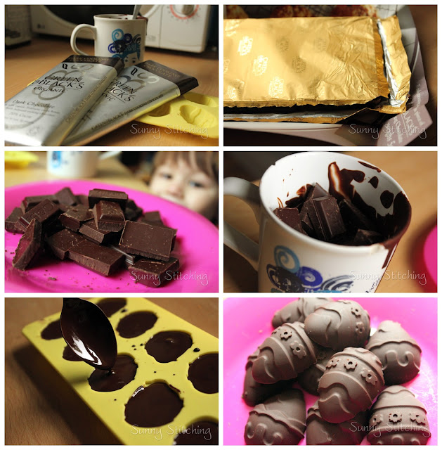 diy chocolate with molds