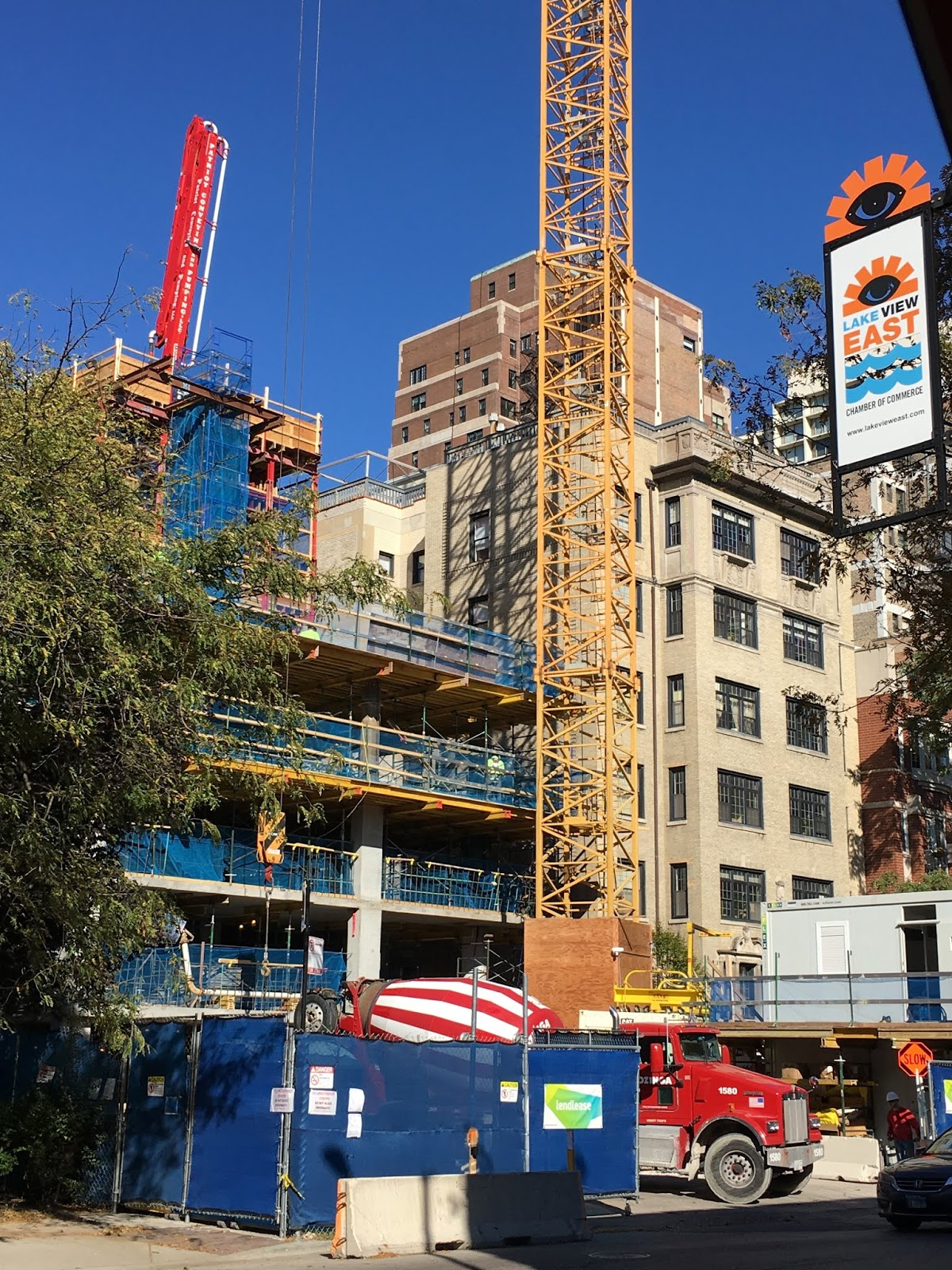 The Chicago Real Estate Local: 450 West Belmont 80 unit tower rises over busy East Lakeview (lot ...
