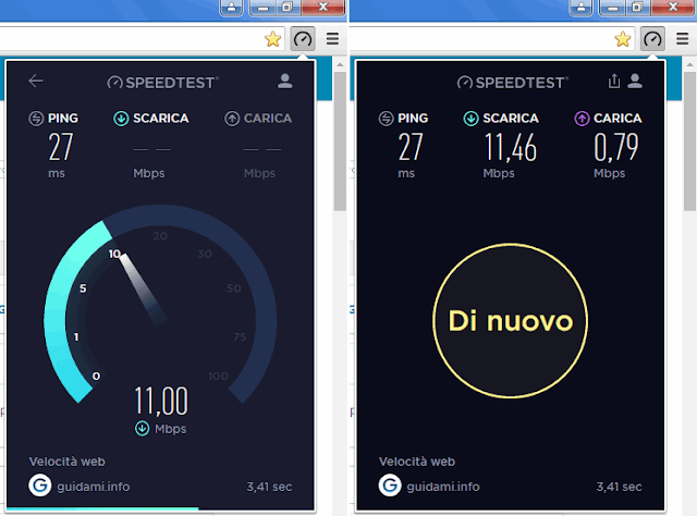 Estensione Chrome Speedtest by Ookla