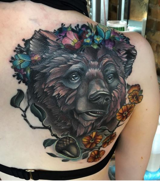 1a16dde83 50+ Tribal Bear Tattoos For Men (2019) Grizzly, Teddy, Pooh, Paw ...