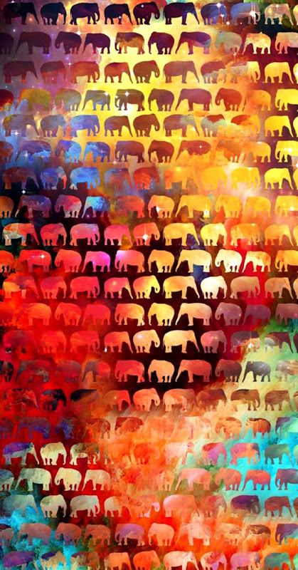 Colorful Elephant Wallpaper Wallpapers Pretty