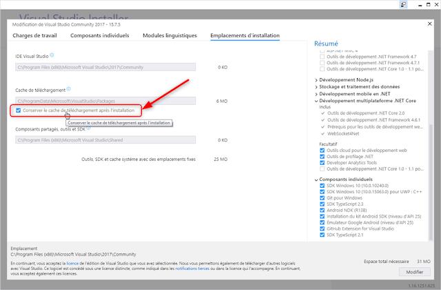 Visual Studio Installeur