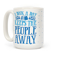 A Book A Day Keeps the People Away Bookworm Mug - Gift Ideas for Bookworms and Book Lovers Gift Guide