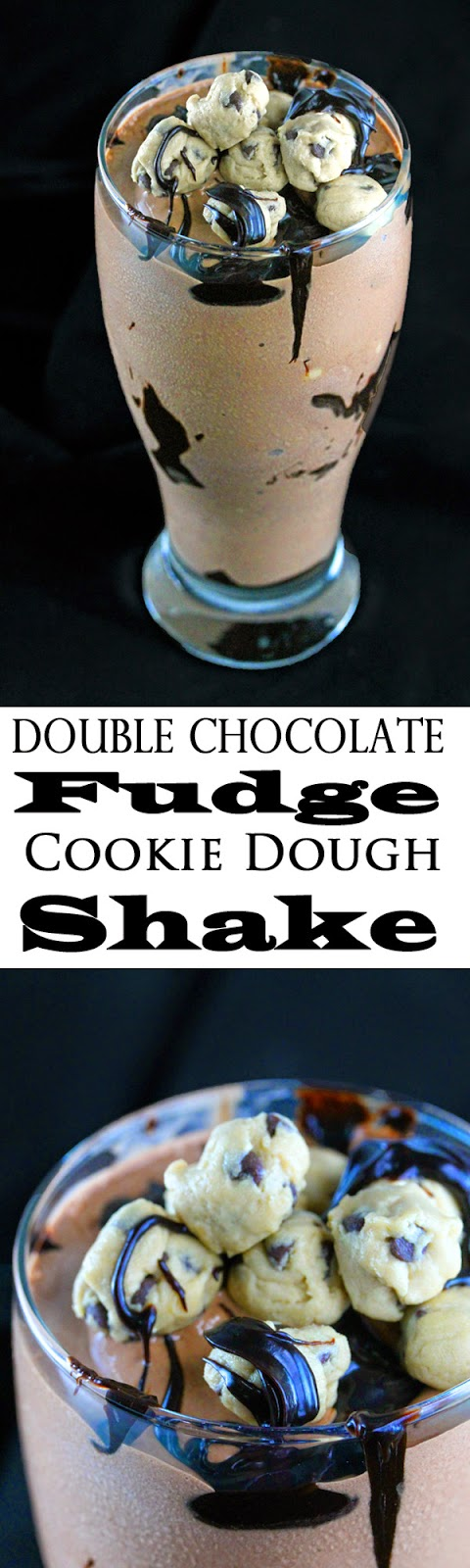 Double Chocolate Fudge Cookie Dough Shake