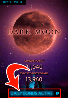 Evento Dark Moon DOTA 2
