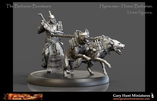 Gary Hunt Miniatures: The Barbarian Beestwars Hyena Man