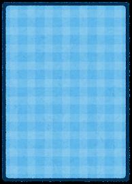 トレーディングカードのテンプレート(裏・青)
