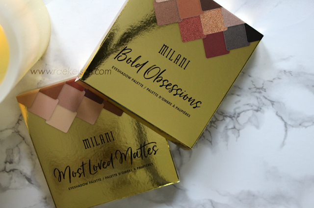 Milani Bold Obsessions and Most Loved Mattes paletted