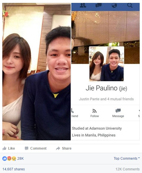 Philippine Viral News And Videos Home: LOOK: Who Is Zel Rosilio And Her Boyfriend Jie Paulino