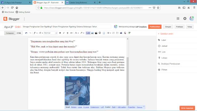 Cara Menyisipkan Gambar di Postingan Blog Dengan Upload dan Tanpa Upload