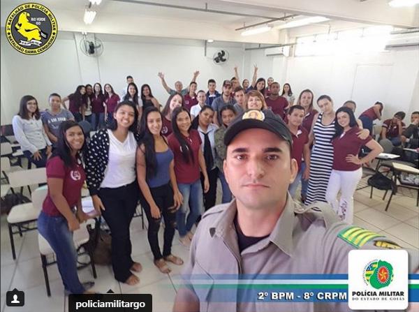 RIO VERDE: POLÍCIA MILITAR É TEMA DE PALESTRA EM FACULDADE