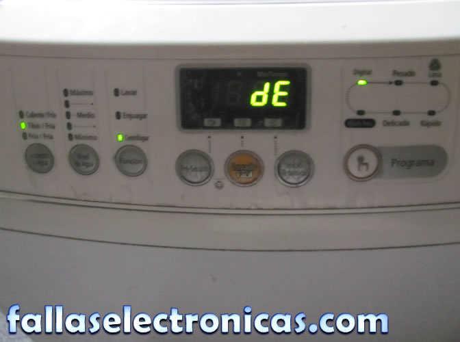 lavadora samsung error de ue no centrifuga c mo solucionar rh fallaselectronicas com manual de lavadora samsung wa80u3 Como Desarmar Una Lavadora Samsung