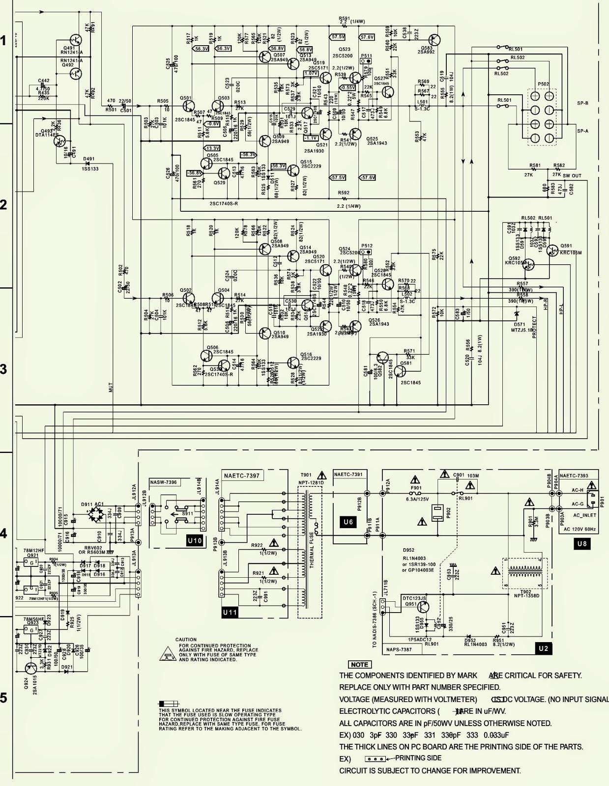 integra dtm5 3 schematic circuit diagram 2sc5200 npn 2sa1943 pnp outout transistors electro help [ 1239 x 1600 Pixel ]