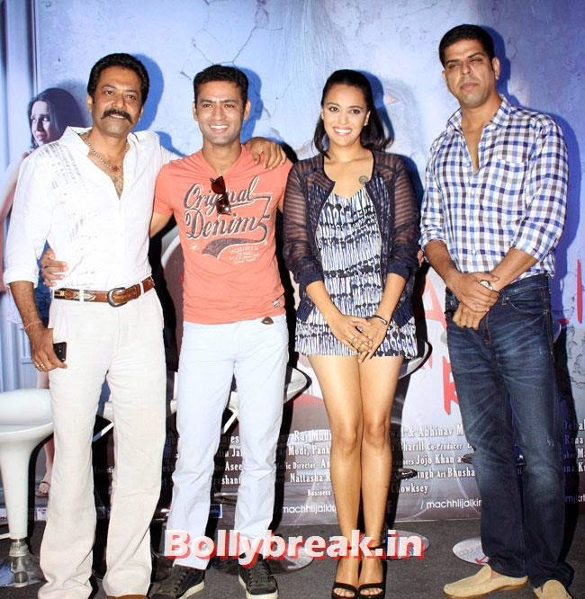 Deepraj Rana , Bhanu Uday , Swara Bhaskar and Murli Sharma, Swara Bhaskar, Kavita Kaushik at Machhli Jal Ki Rani Hai Trailer Launch