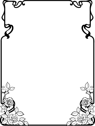 free black and white clip art borders - photo #2