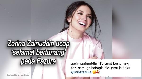 Zarina Zainuddin ucap 'selamat bertunang' pada Fazura
