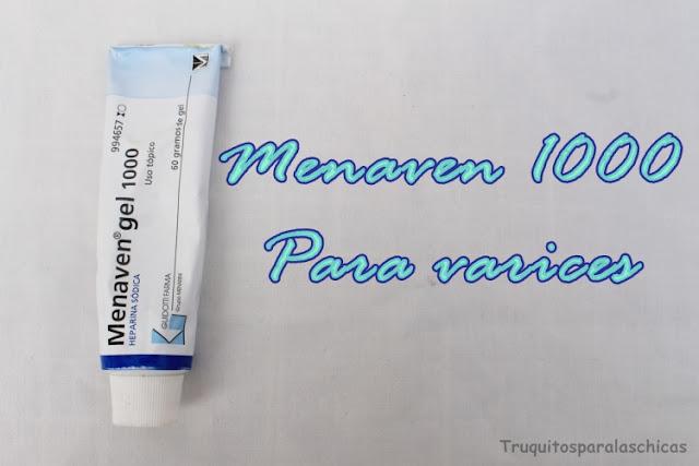 Para las varices Menaven gel 1000