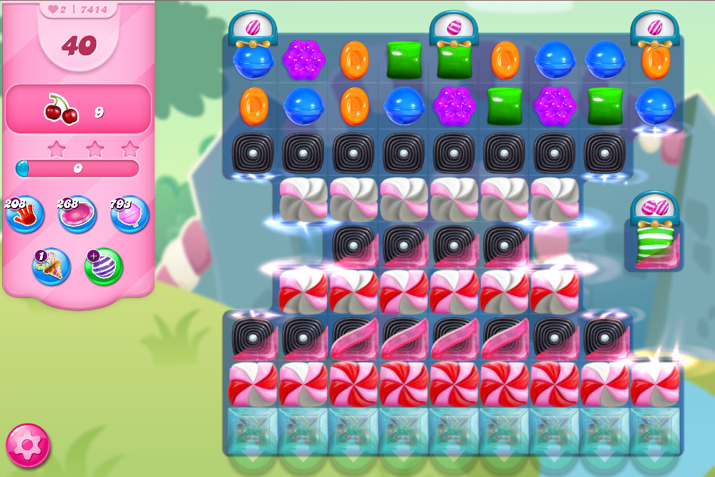 Candy Crush Saga level 7414