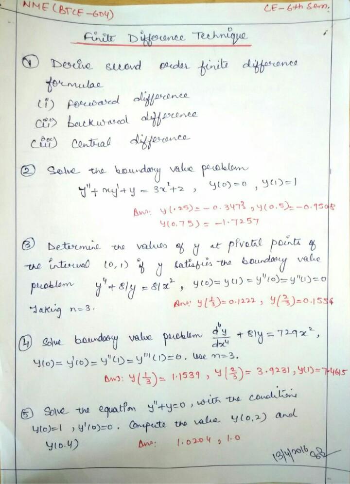 Handwritten Maths Notes