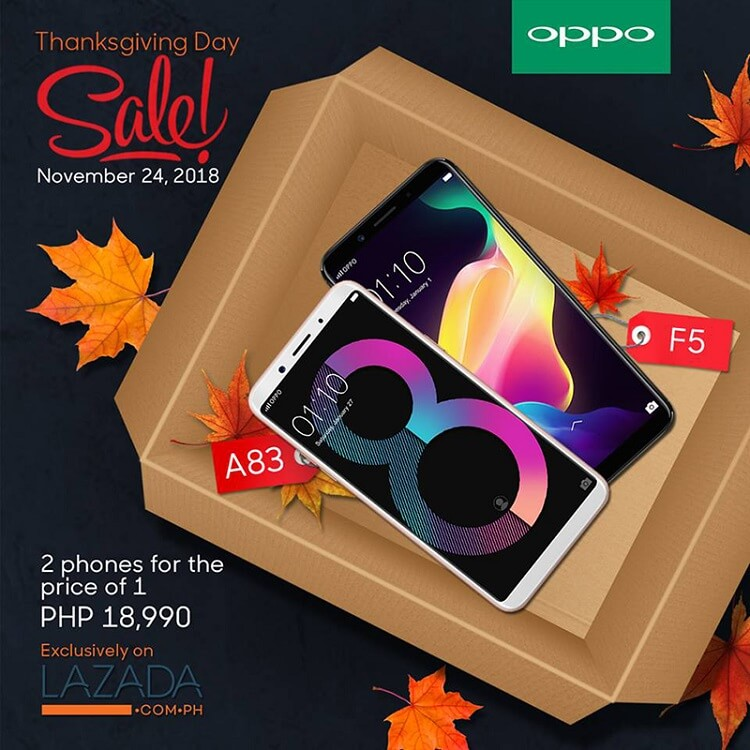 Get the OPPO F5 and OPPO A83 Bundle for only Php18,990