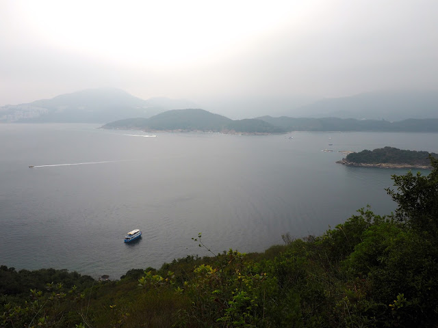 Ocean and island views from hiking trail on Sharp Island, Hong Kong