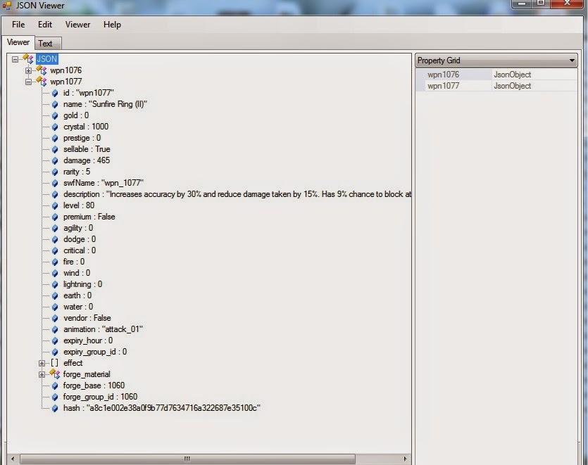 Tool untuk Membaca Json file atau Json data
